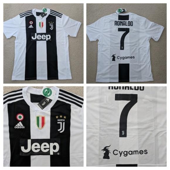 cheaper 444a1 1ceda 2018 Home Ronaldo Juventus Soccer Jersey #7 NWT
